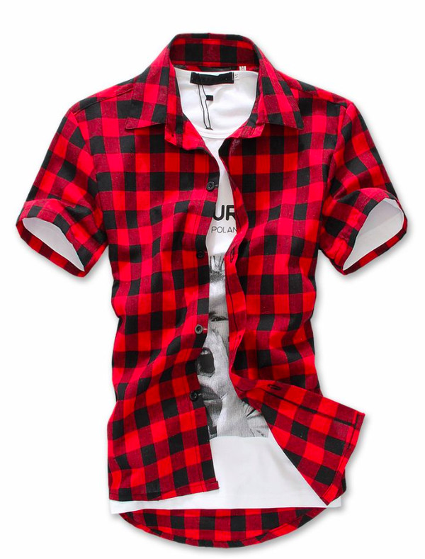 shirt red Sam pottorff checked shirt checkered