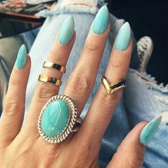 nail accessories ring and ting the bling ring jewels nail polish nails nail art gold sequins