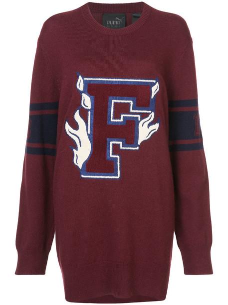 Fenty x Puma jumper women varsity cotton red sweater