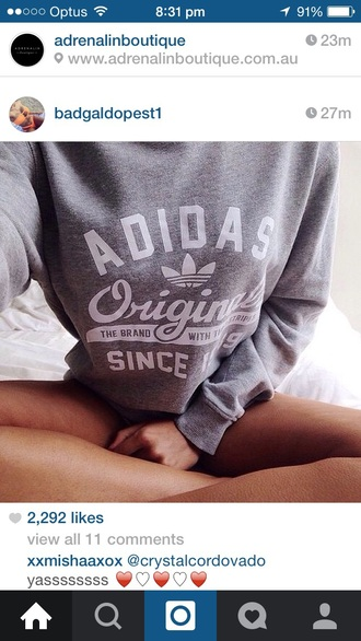 sweater adidas adidas originals grey white casual adidas swearshit adidas hoodie grey sweatshit instagram sweatshirt hoodie shirt adidas grey pullover grey sweater