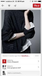 sweater,black,baggy,jumper,cotton,large