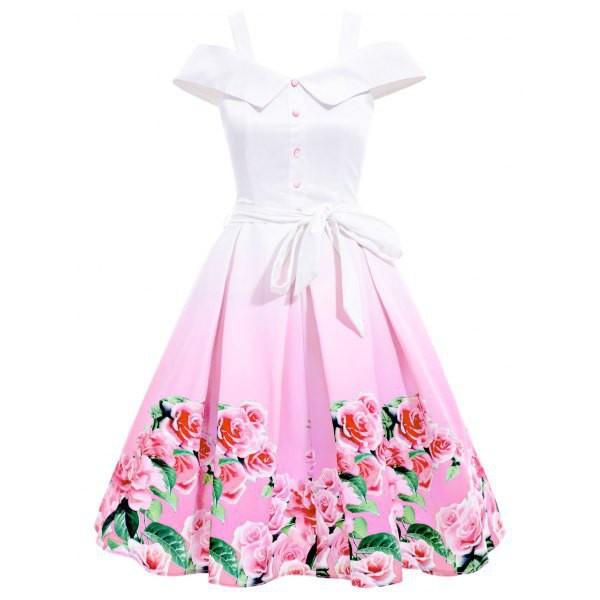 dress midi dress floral printed dress belted dress cold shoulder dress