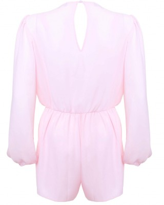LOVE Ice Cream Pink Long Sleeve Wrap Front Playsuit - In Love With Fashion