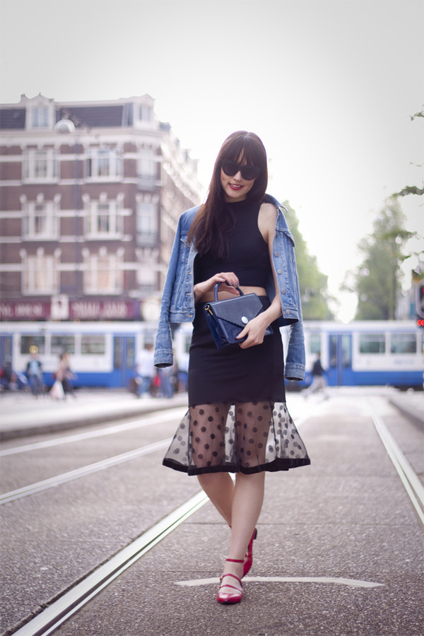 a dash of fash skirt sunglasses bag jacket
