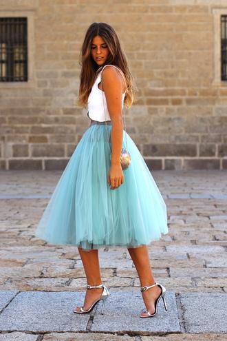 skirt tulle skirt fashion style high heels