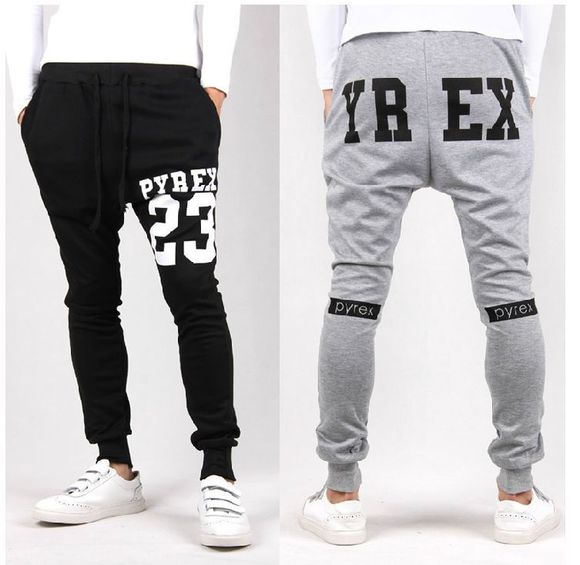 menswear kanye west pyrex pyrex joggers sweatpants grey sweatpants mens sportswear