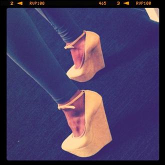 shoes beige shoes high heels platform shoes platform high heels