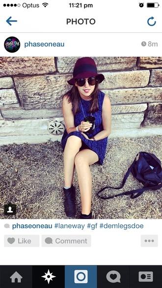 hat burgundy hat felt hat suede hat hipster indie laneway festival brim fedora style burgundy