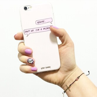 phone cover yeah bunny iphone case nails iphone pink case shut up im a princes