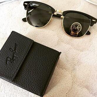 sunglasses rayban black gold
