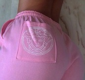 shorts,versace,rose,blanc