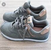 shoes,new balance,nike,grey,rose gold,women shoes