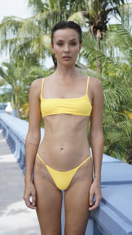 0a3d2e8be6d5f Sporty Bikini Bottom - Primrose Yellow