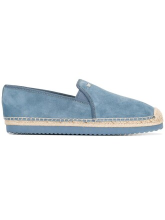 women classic espadrilles cotton blue suede shoes