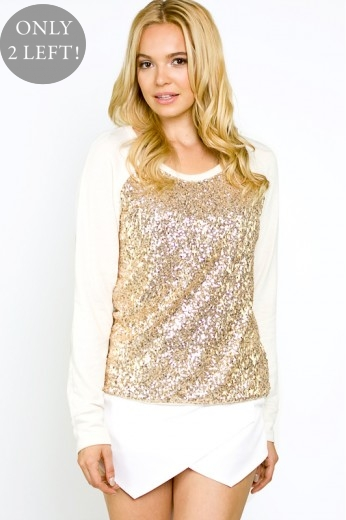 Starry night sequin sweater
