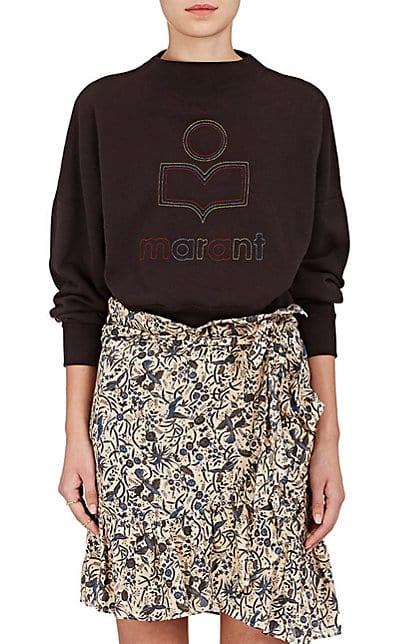 Isabel Marant Étoile Odilion Cotton-Blend Fleece Sweatshirt | Barneys New York