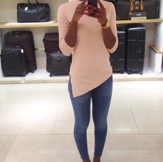 blouse top assymetrical assimetrical