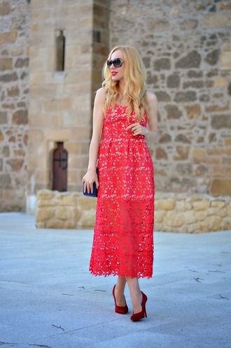 dress choies red spaghetti strap lace
