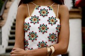 top,need it bad,get it,tumblr,tumblr girl,beaded,beaded top,love this,want to find!!,want to find,want so much,want so bad,india love,india westbrooks,high neck