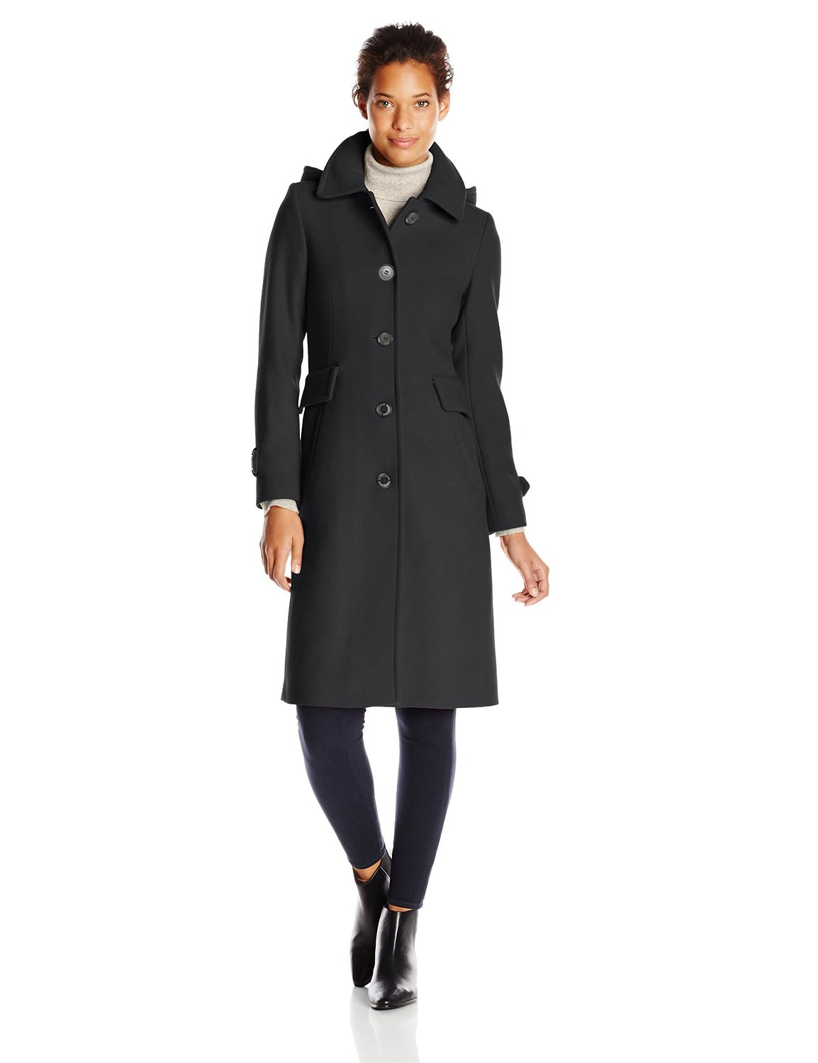 Blend maxi coat with detachable hood at amazon women's coats shop