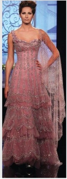 dress pink dress sparkle