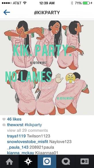 cartoon blouse kik party