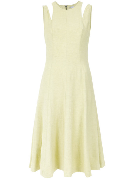 Tufi Duek dress midi dress women midi yellow orange