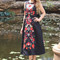 Classy dress - black dress with embroidered flowers