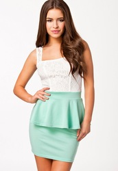 Online shop spring  2014 mint green party princess lace sexy peplum dress  lc21270 free shipping spring dress