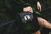 bag,tumblr,velvet,velvet jacket,green coat,black bag,shoulder bag