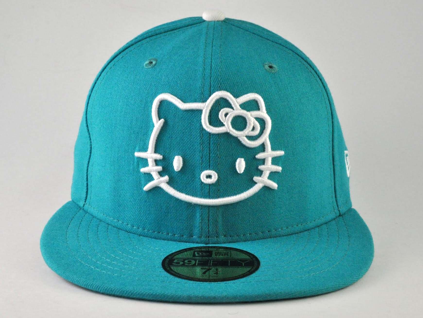 Hello Kitty NEW ERA Teal 59FIFTY Fitted CAP HAT  361418f0e26