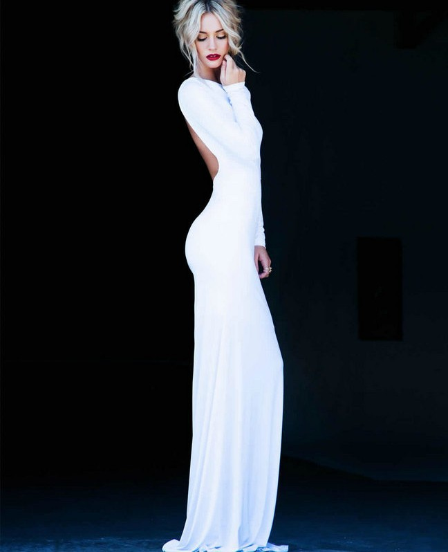 Aliexpress.com : Buy Vestidos De Fiesta 2014 Sexy Backless White Red Long Sleeves Mermaid Evening Gowns Dresses Floor Length Prom Dresses from Reliable dress bear suppliers on 27 Dress