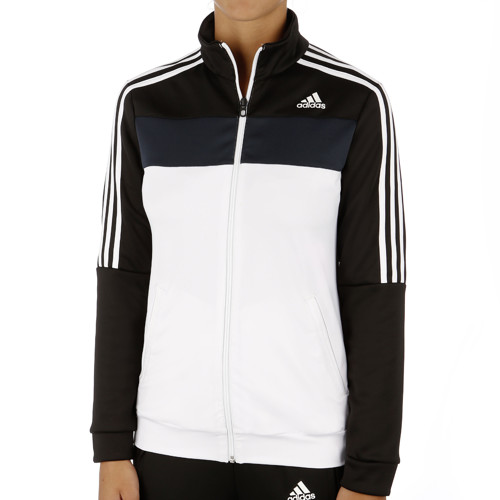 adidas response court jacket damen wei schwarz online. Black Bedroom Furniture Sets. Home Design Ideas