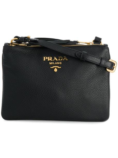 Prada women bag crossbody bag leather black