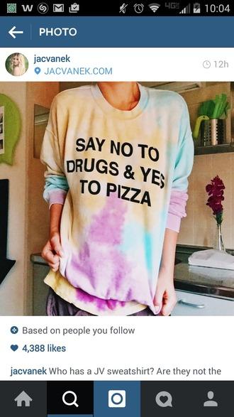 shirt pizza tiedye drugs hoodie tee