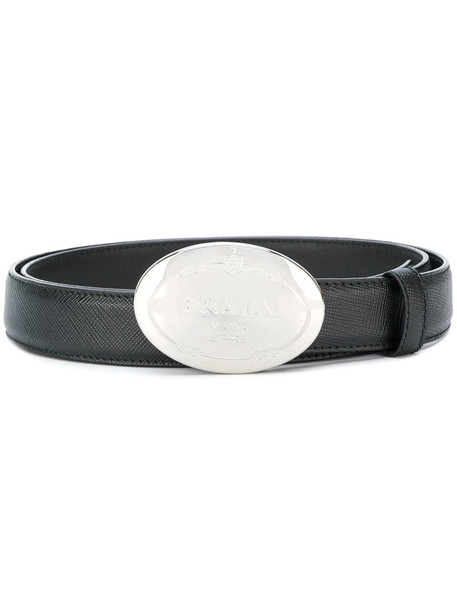 Prada women belt leather black