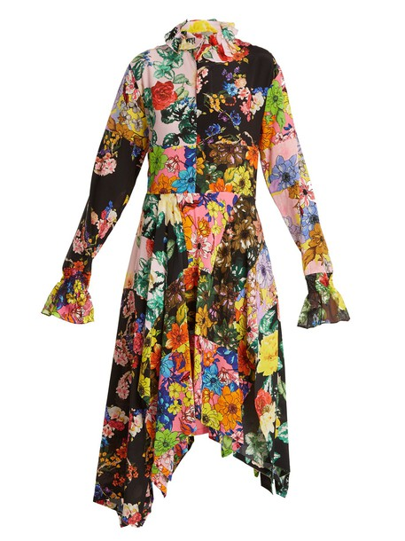 PREEN BY THORNTON BREGAZZI dress silk dress floral print silk