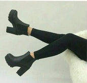 shoes,black,plateau,ankle boots,cutesyoriginals,booties,lug,black boots,red,nike air force 1,nike,nike shoes