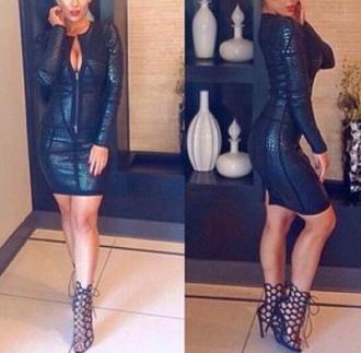 dress leather dress bandage dress black dress short black dress