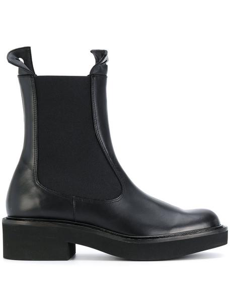 PALOMA BARCELÒ women chelsea boots leather black shoes