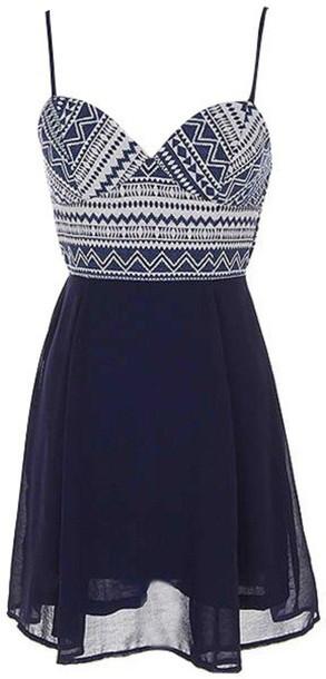 dress mini dress navy dress