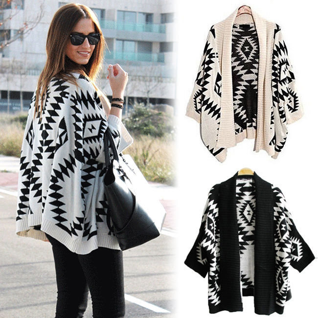 Aliexpress.com : Buy 2014 New High Quality Geometric Aztec Tribal Knit Open Long Sleeve Oversized Womens Tops Cardigan from Reliable cardigan baby suppliers on Shenzhen Gache Trading Limited