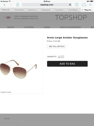 sunglasses topshop
