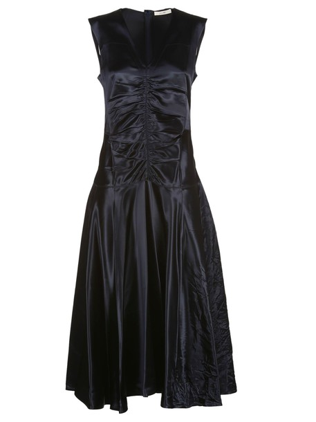Celine dress satin dress satin blue