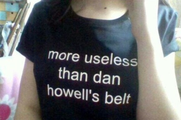 shirt t-shirt t shirt dan howell belt danisnotonfire youtube fan merch merchandise