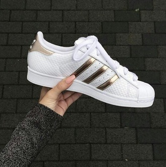 shoes adidas gold white