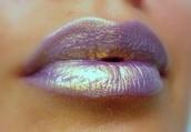 jewels,nail polish,lips,lipstick,purple,make-up,sheer,holographic,holo,shimmering