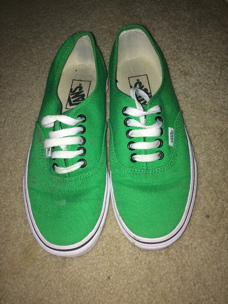 Used guys green vans size 6.5 or womens 8!