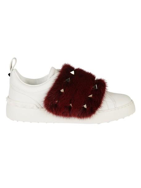 Valentino Garavani fur sneakers fur sneakers white shoes
