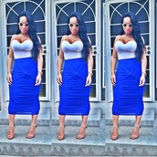 lace dress,lace up,lauren london,teen wolf,fashion,style,shoes,dress,skirt,royal blue dress,blouse,blue dress,blur,tights,white dress,white shirt,white crop tops,nude high heels,tank top,crop tops,midi skirt